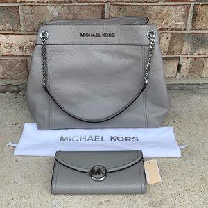 Michael Kors lg shoulder tote with Lg Wallet